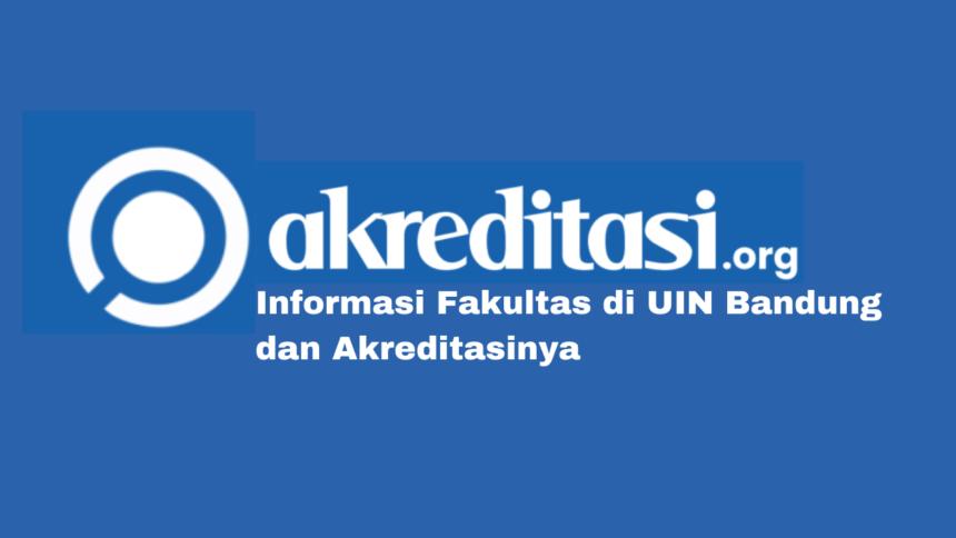 Fakultas di UIN Bandung dan Akreditasinya